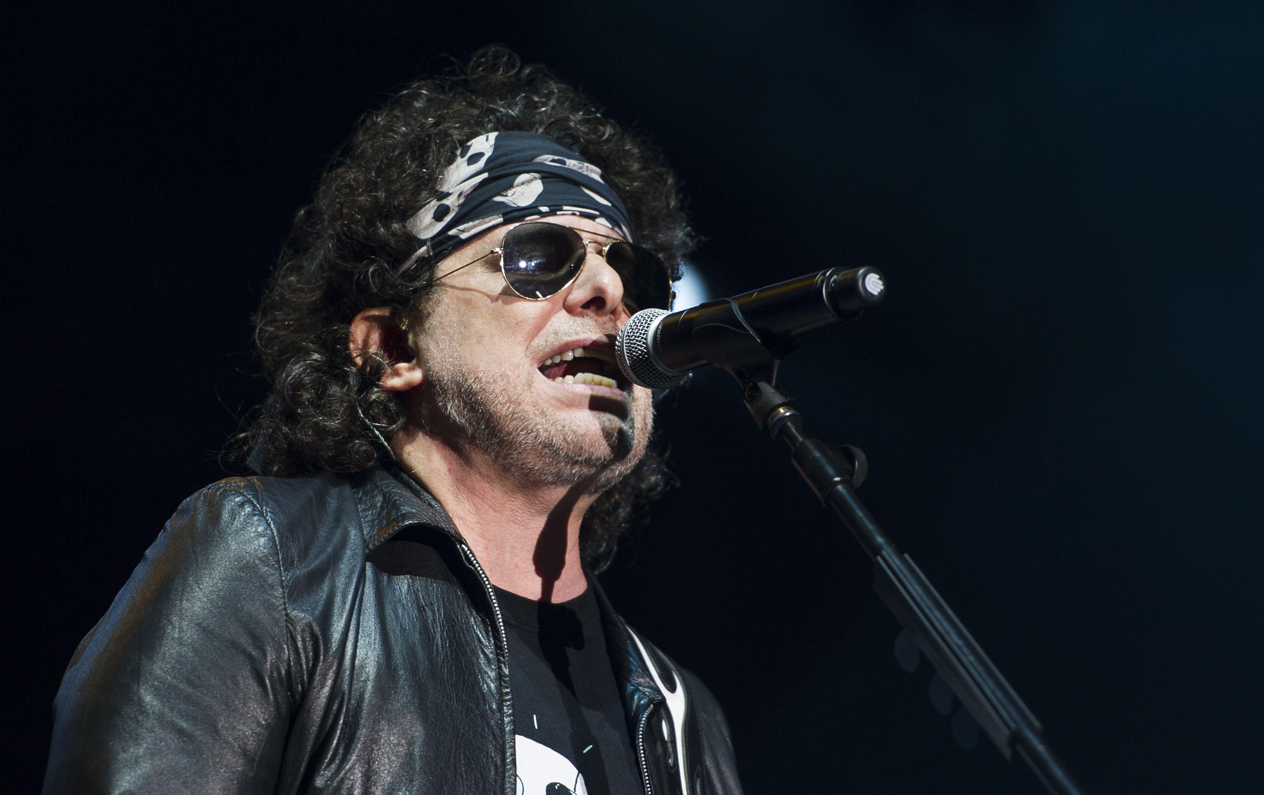 Latin rock star Andres Calamaro
