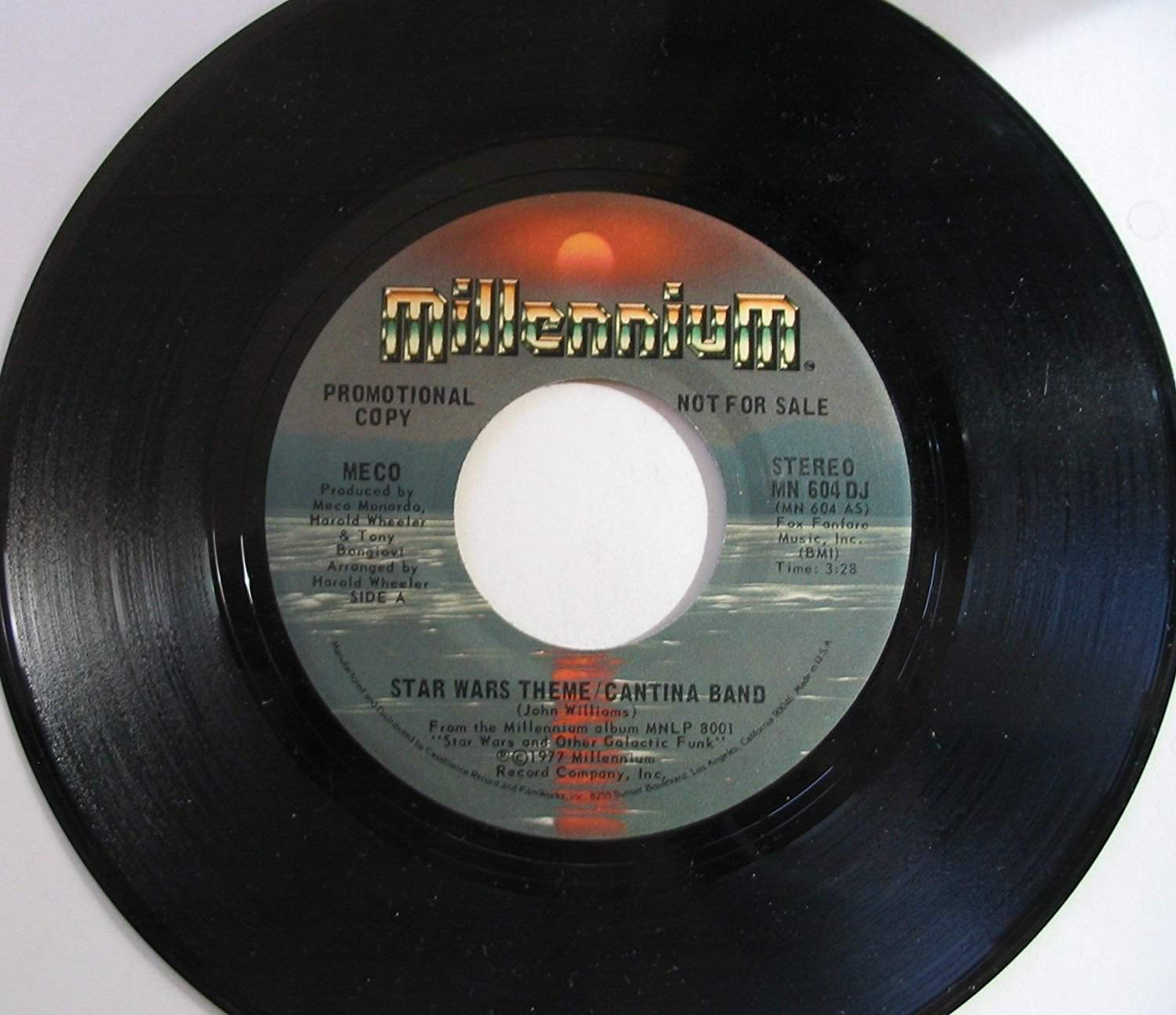 """""""Star Wars Theme/Cantina Band,"""" by Meco on 45"""