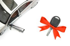 New Car and Key with Ribbon