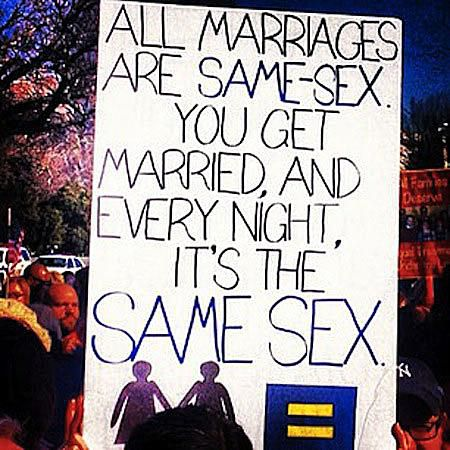 Funny Gay Marriage Signs and Memes