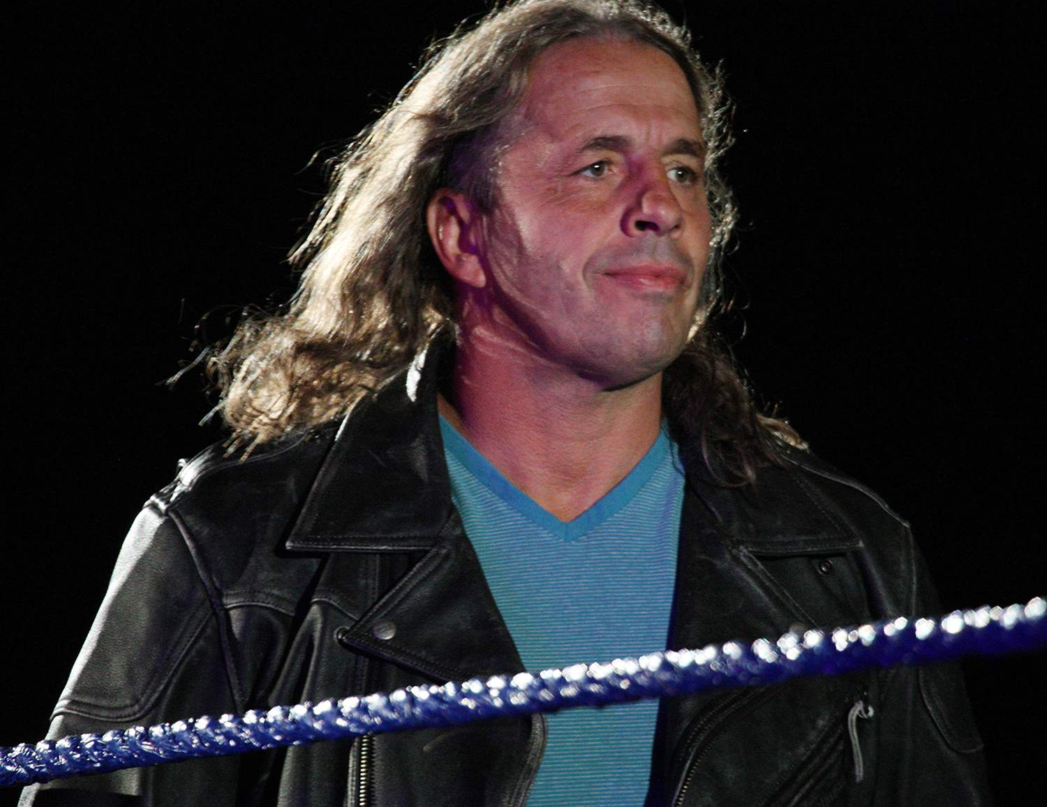 Special guest referee Bret 'The Hitman' Hart during the WWE Smackdown Live Tour at Westridge Park Tennis Stadium on July 08, 2011 in Durban, South Africa.