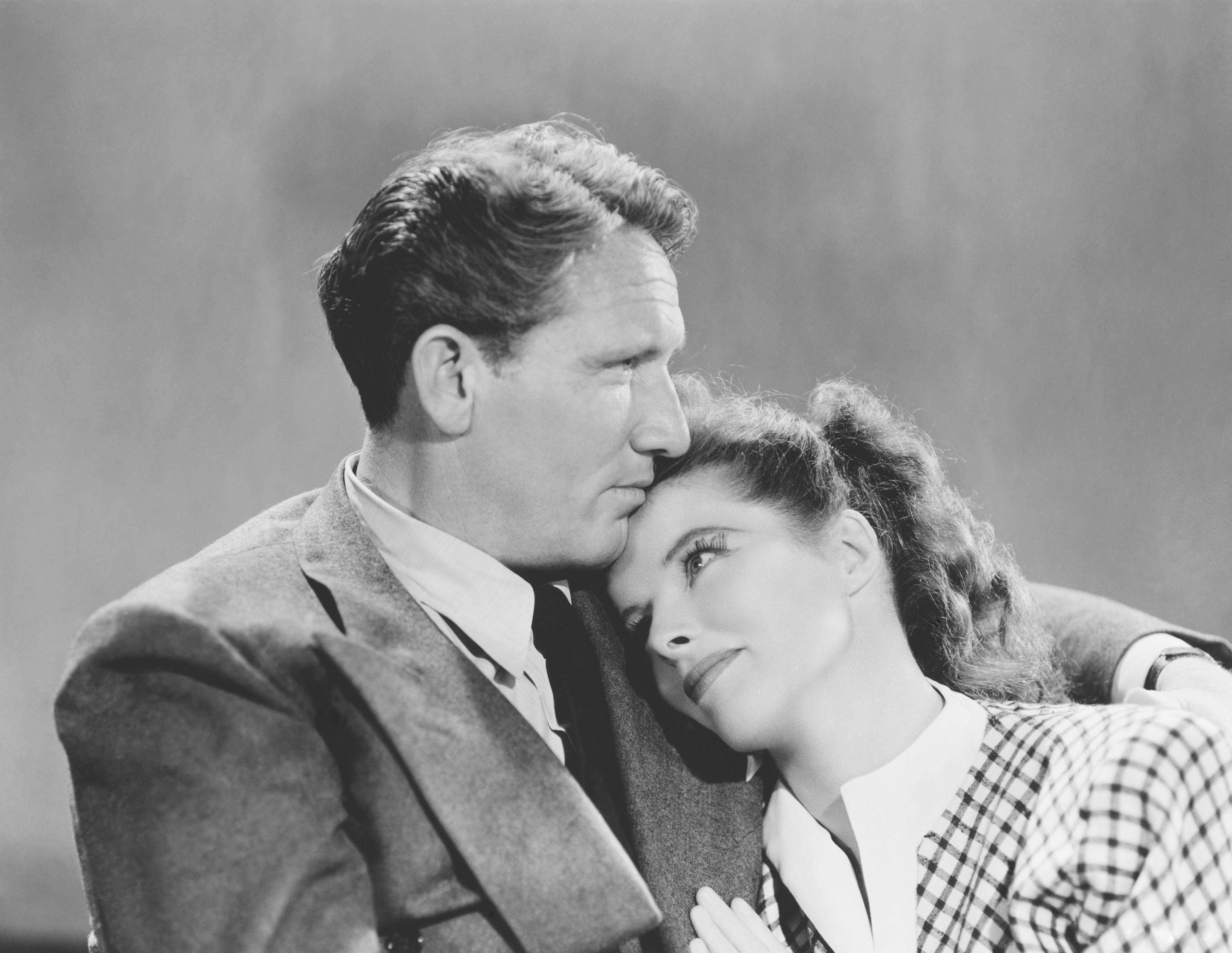 Spencer Tracy and Katharine Hepburn