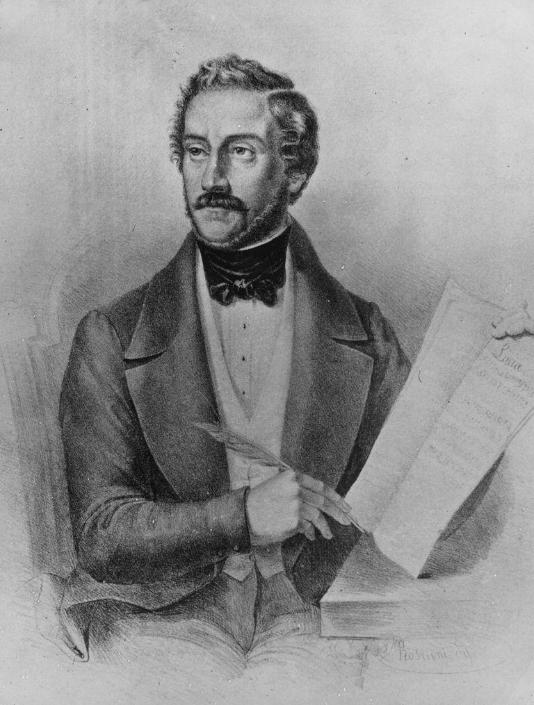 Portrait of Gaetano Donizetti (1797 - 1848)