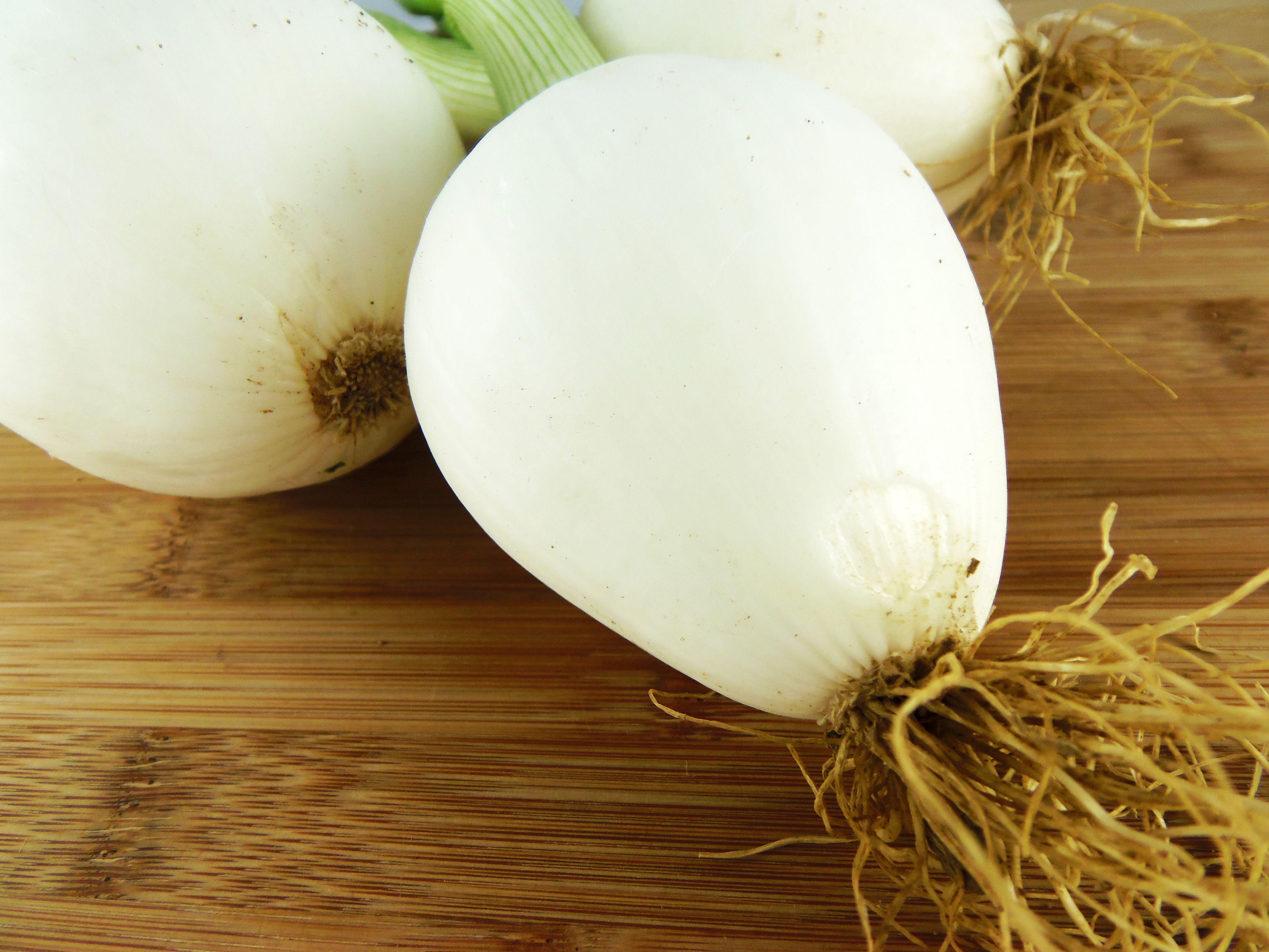 onions on cutting board