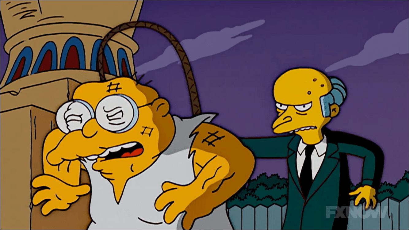 Hans Moleman Whipped in Flanders' Biblical Movie