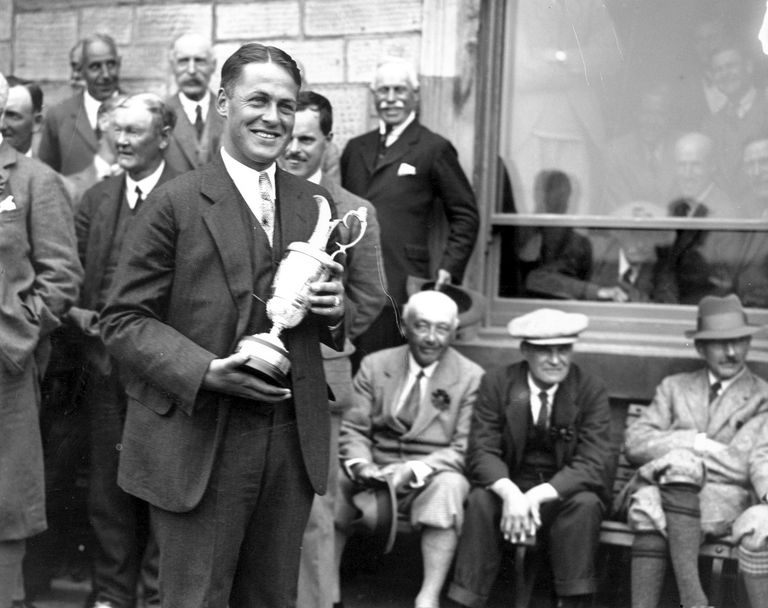 Bobby Jones with the Claret Jug in 1927