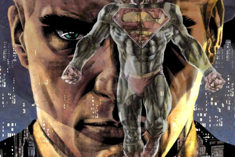 "The 2005 cover of ""Lex Luthor: Man of Steel"" featuring Luthor's menacing gaze"