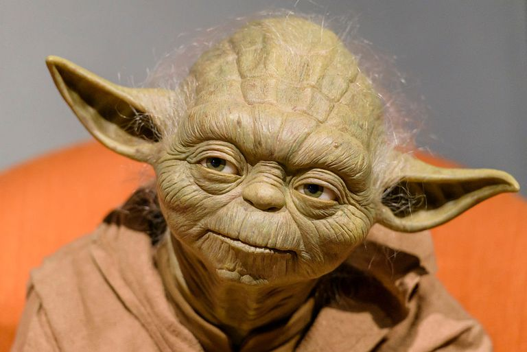 A wax figure of Yoda at Madame Tussauds Berlin