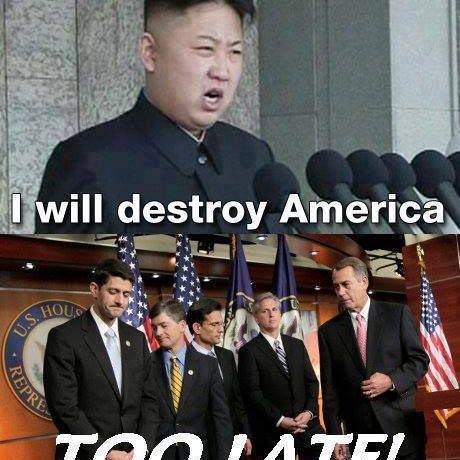 Republicans Destroying America - Government Shutdown Meme