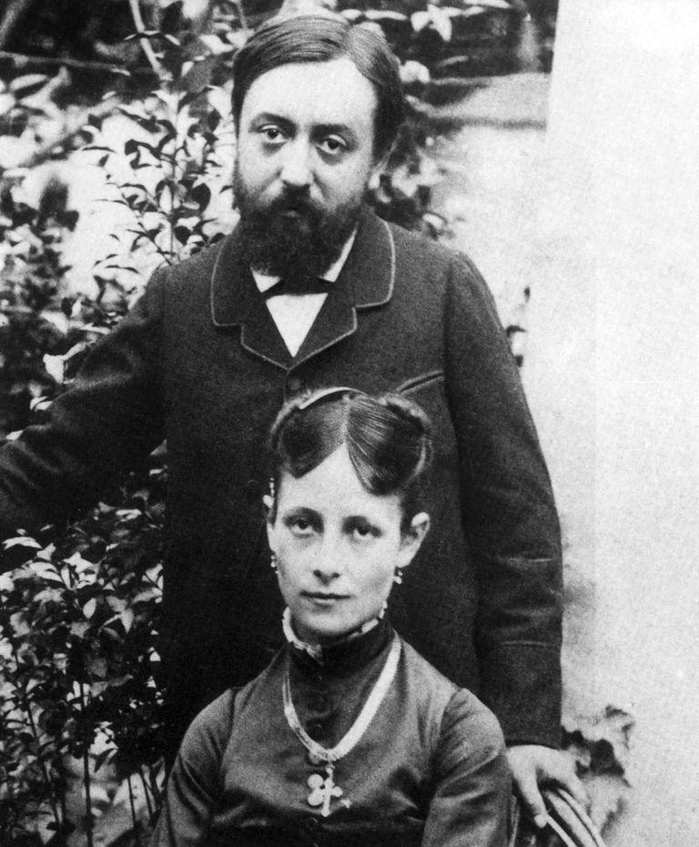 French painter Paul Gauguin (1848-1903) and his wife Mette Gad (daninsh) in Paris just after their wedding on november 22, 1873