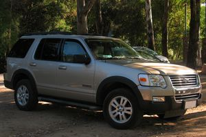 Ford Explorer parked under shade trees