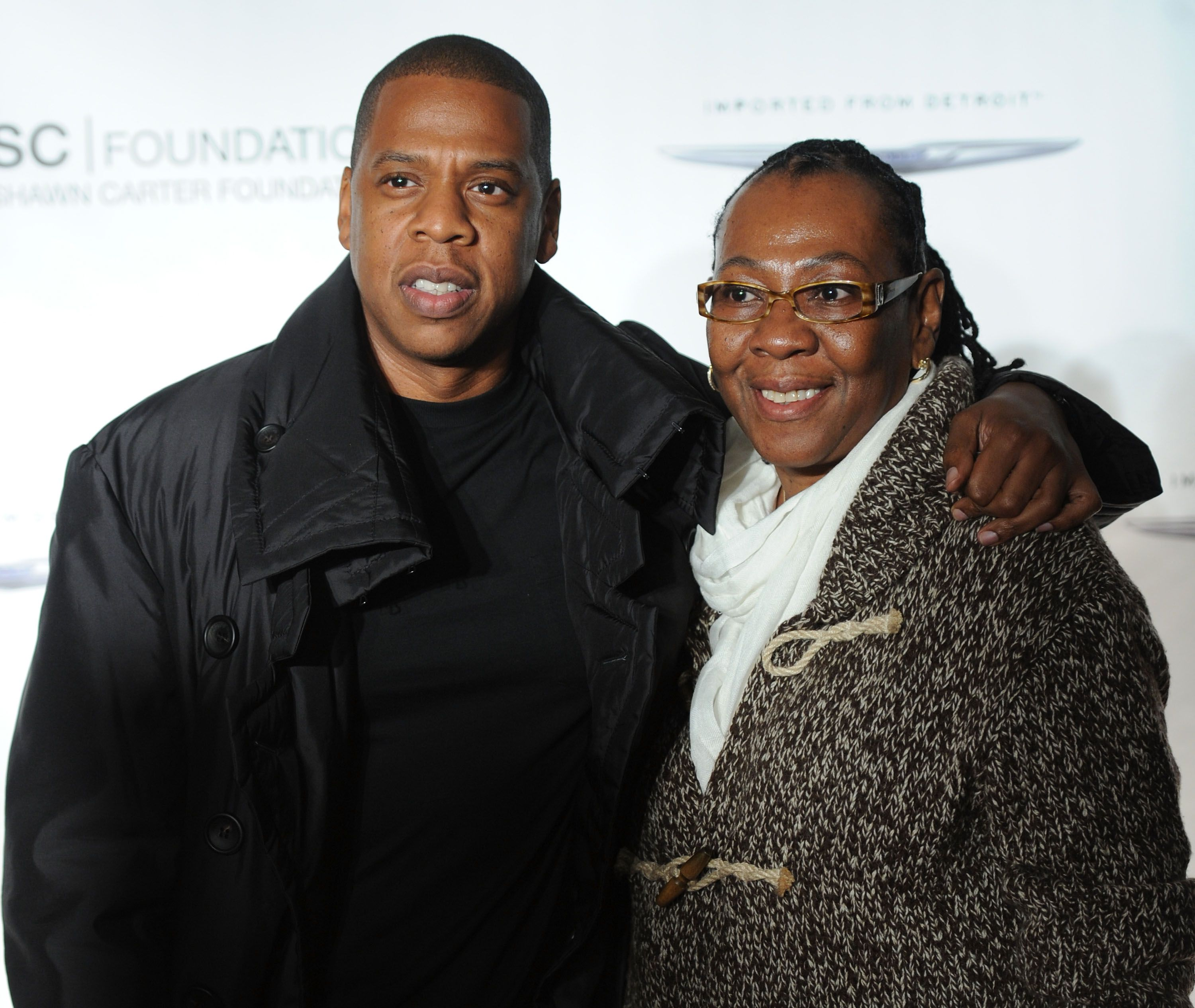 Jay-Z and his mother at an event