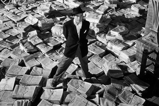 Orson Welles in his 1941 film 'Citizen Kane'
