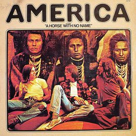 """The 45 sleeve of America's """"A Horse With No Name"""""""