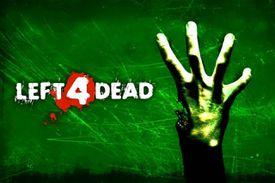 Left 4 Dead splash screen with upraised zombie hand