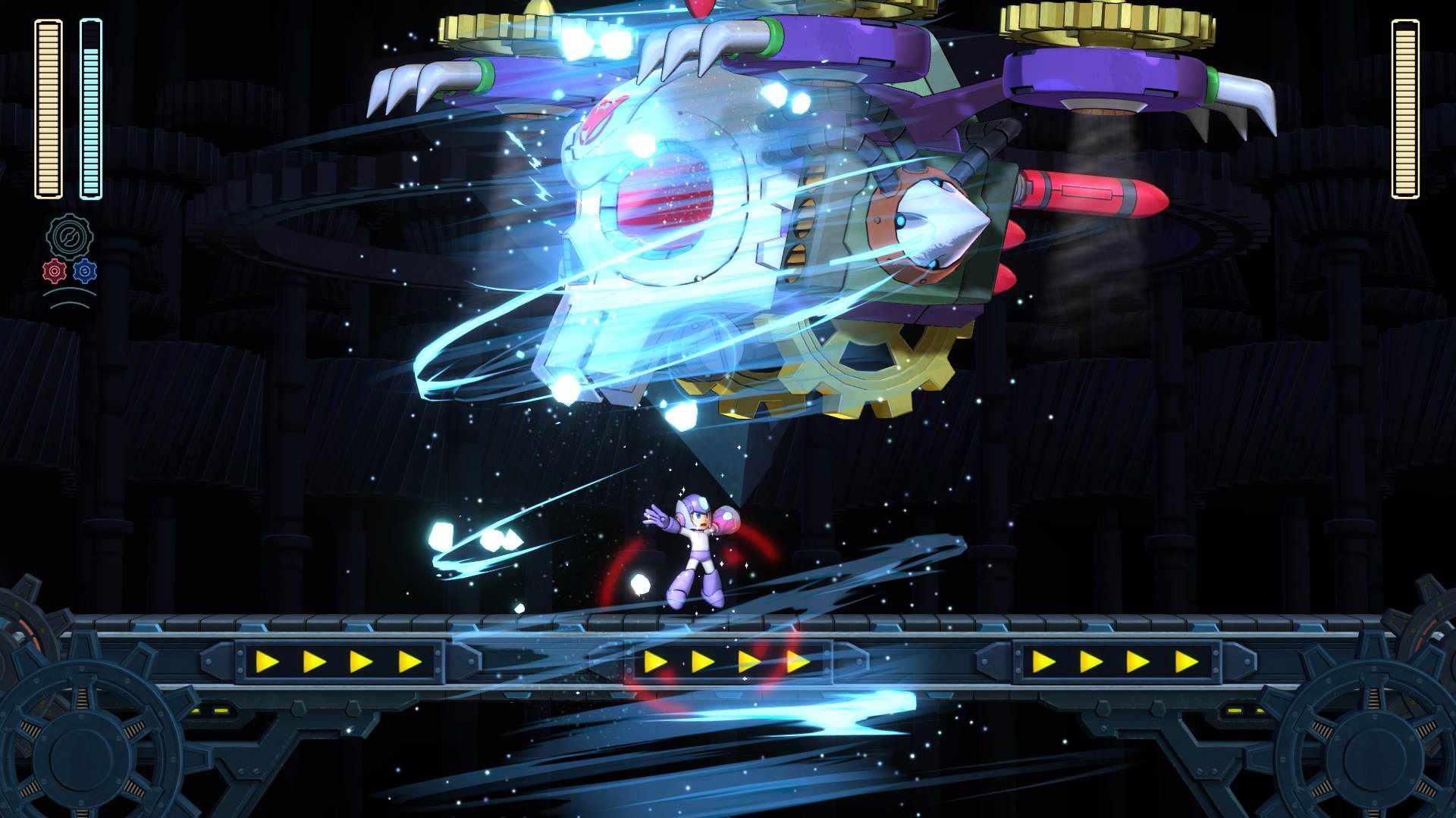 Mega Man attacks Dr. Wily in Mega Man 11