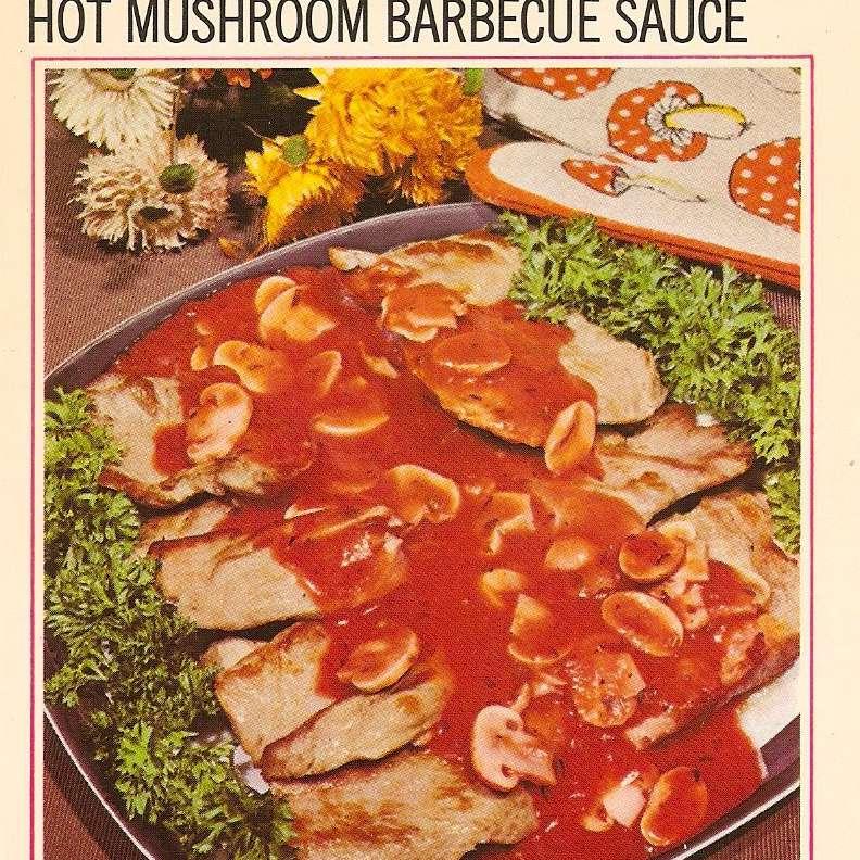 Hot mushroom barbecue sauce
