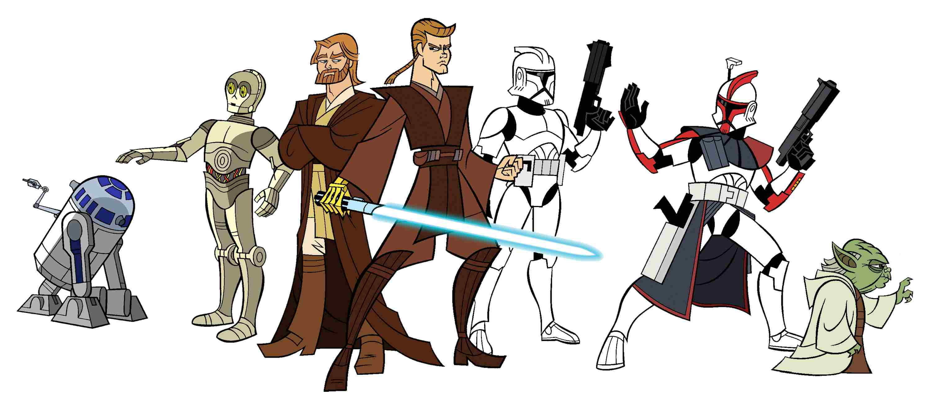 Characters from 'Clone Wars'