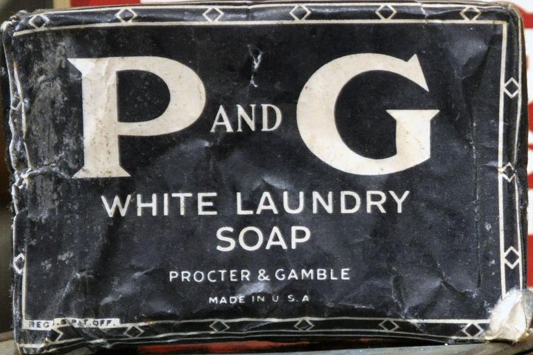 "Procter & Gamble ""P and G"" soap, early to mid 20th century packaging, photographed at Edmonds Historical Museum, Edmonds, Washington, USA."
