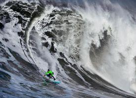 Surfing a Huge Wave