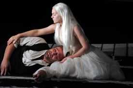 Anne-Sophie Duprels (as Rusalka) and Jeffrey Lloyd-Roberts (as The Prince) perform in the production Dvorak's 'Rusalka.'