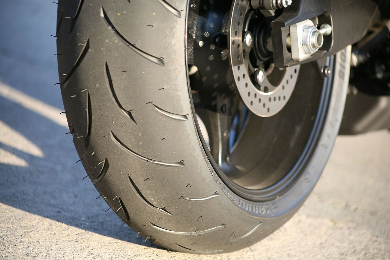 A nice looking motorcycle tire