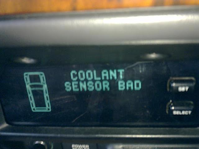 Coolant Sensor Bad Light