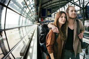 Couple At The Airport