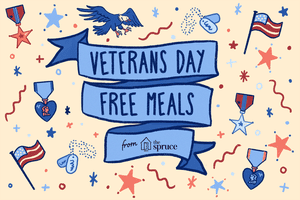 illustration of free veteran's day meals