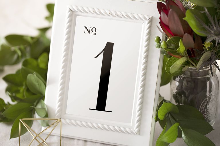 free wedding table number print out