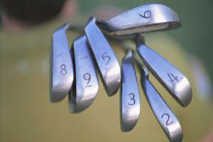 golf clubs heads up-close