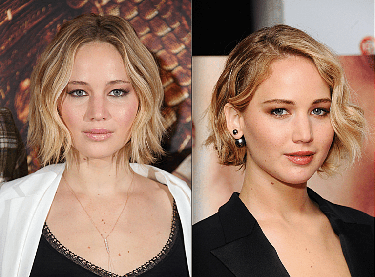 The Best Short Cuts For A Round Face Jennifer Lawrence With Hair