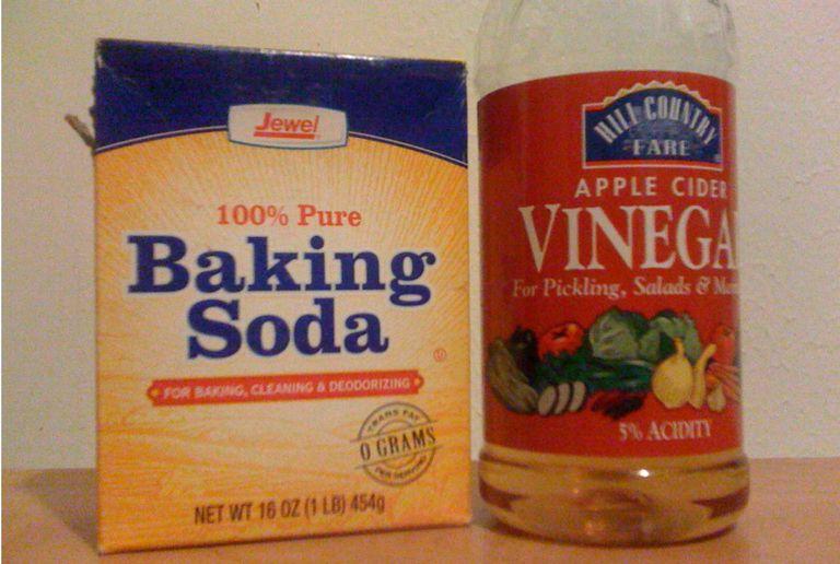 Baking soda instead of shampoo, apple cider vinegar for conditioner.