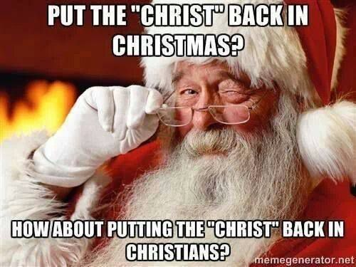 Put the Christ Back in Christmas?