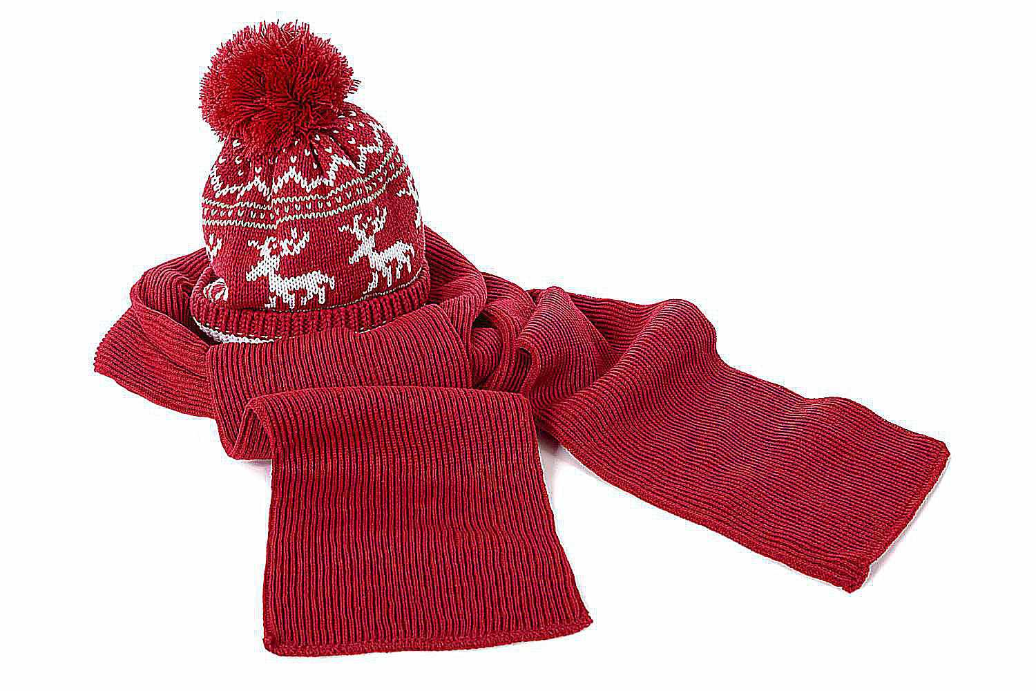 Wool hat and gloves