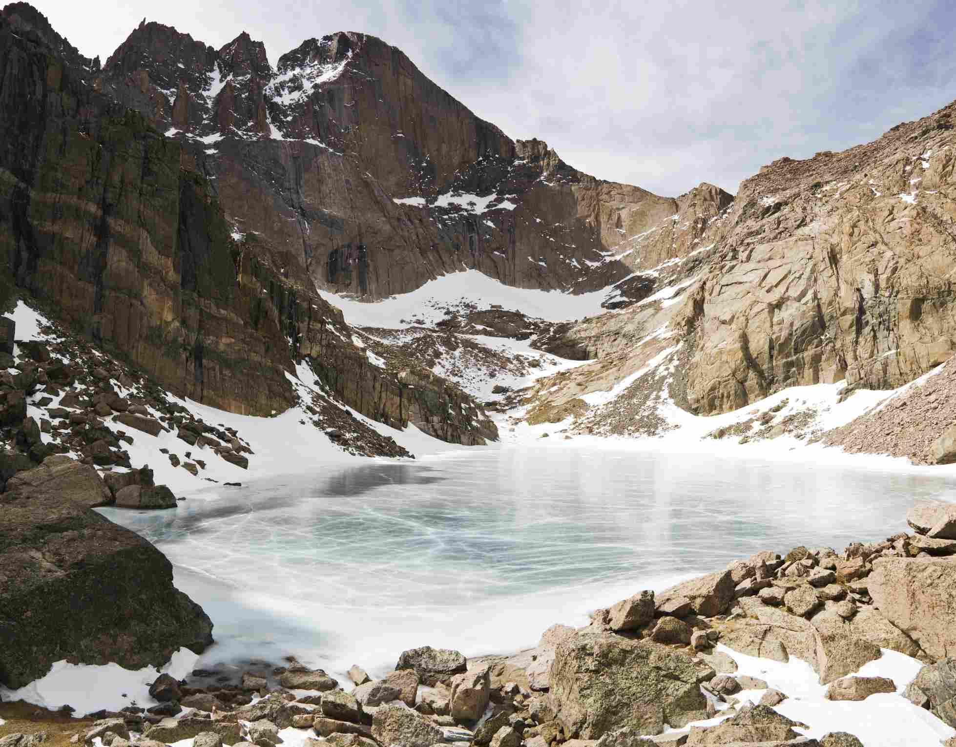 Longs Peak and Chasm Lake, Rocky Mountain National Park, Colorado.