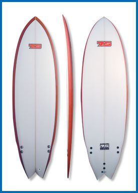 Superfish surfboard product shot