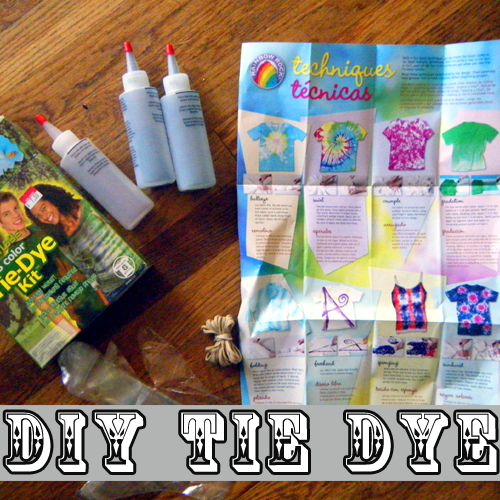 How-to Tie Dye Instructions