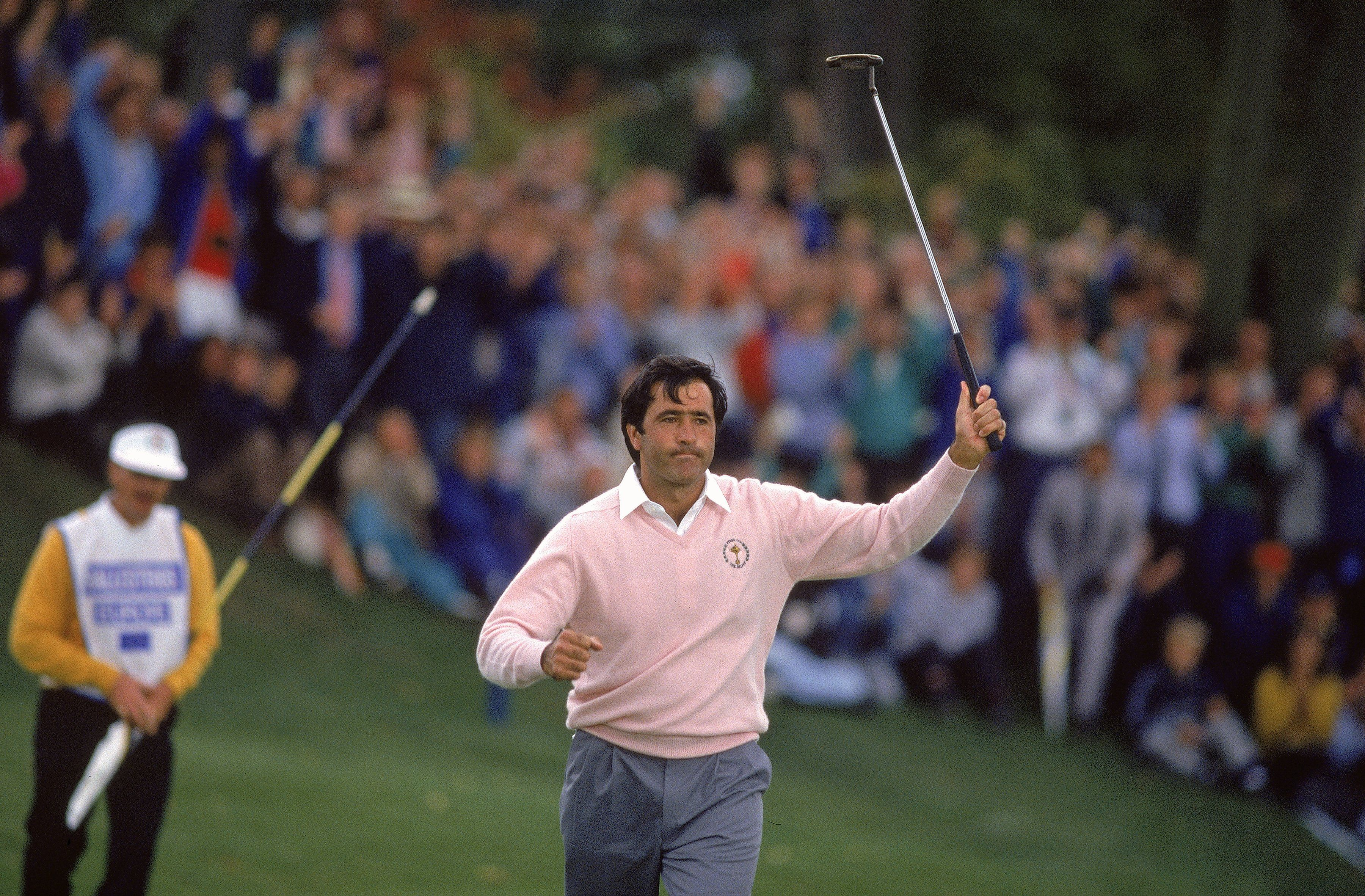 Seve Ballesteros of the European team during the 1989 Ryder Cup at The Belfry in Sutton Coldfield, England