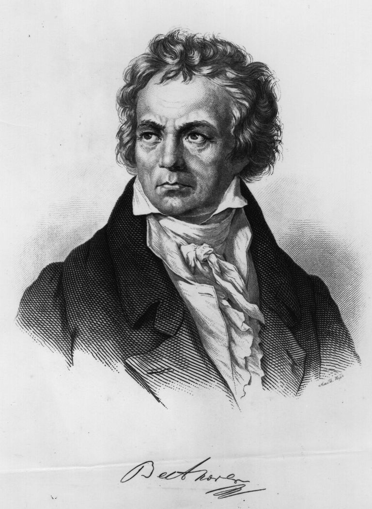 circa 1810: Ludwig Van Beethoven (1770 - 1827) the German composer.