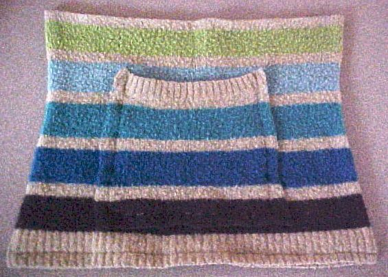 A pocket on a sweater bag