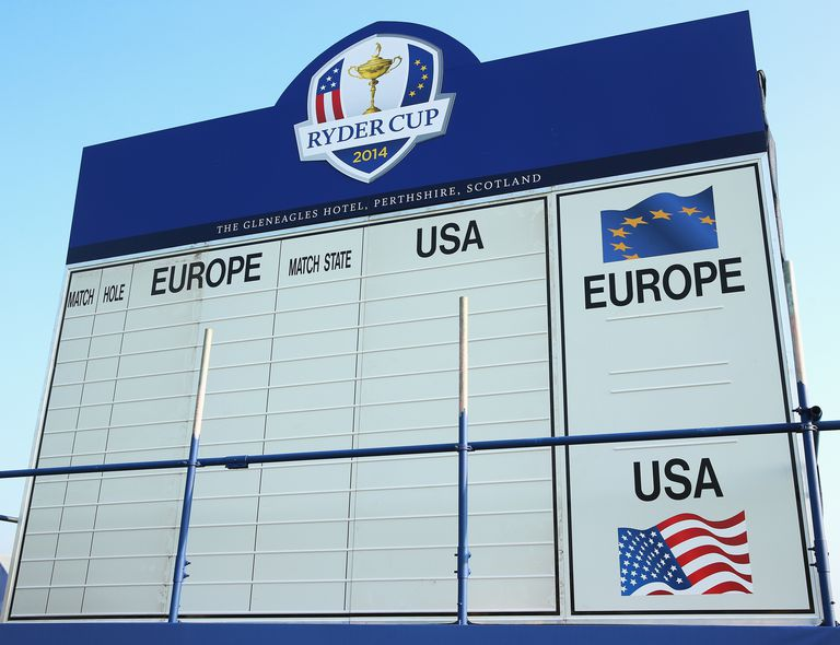 Ryder Cup Scoreboard 2014 matches