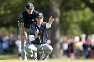 Foursomes partners Brandt Snedeker and Jim Furyk