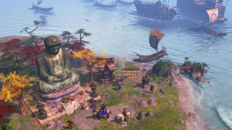 An island city in Age of Empires III