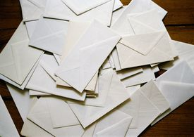 Image of a pile of letters.
