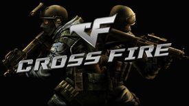 Crossfire splash screen on PS1