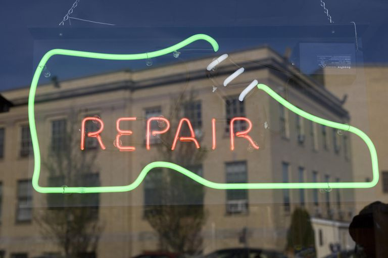 Shoe repair window