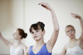 Ballet dancers practising ballet pose