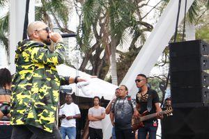 Sean Paul performing at Kaya Fest