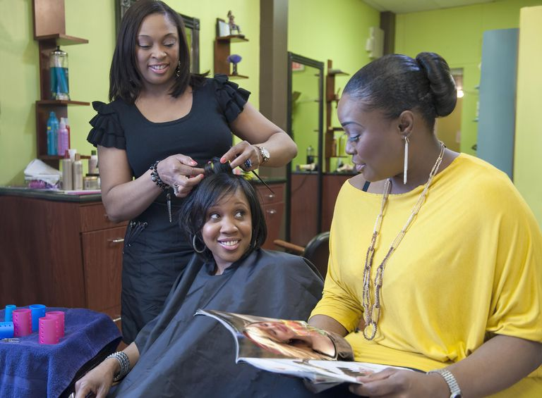 Nothing, not even a stylist, can strip a relaxer from the hair.